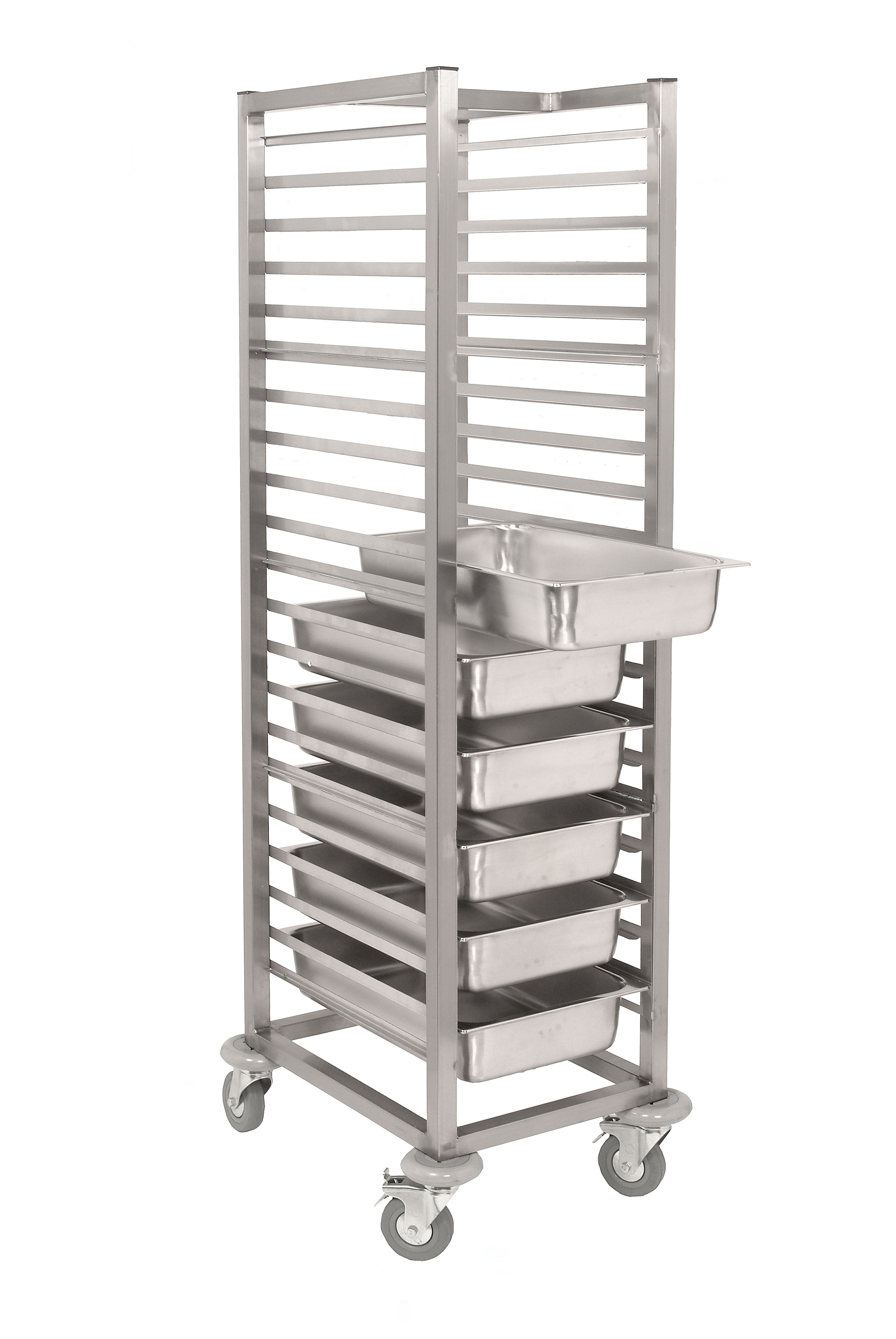 Sct1600 Stainless Steel Gastronorm Tray Trolley Parry