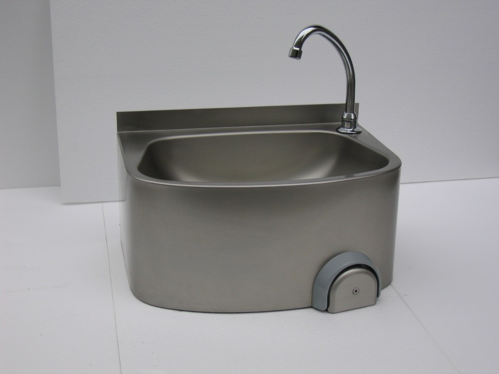 Stainless Steel Knee Operated Hand Wash Basin – CWBKNEE