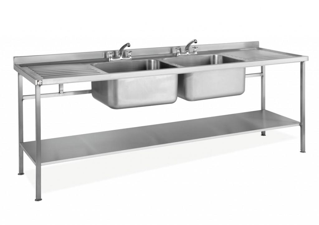 Sale Stainless Steel Assembled Sink Double Bowl Double Drainer U2013 SINKDBDD
