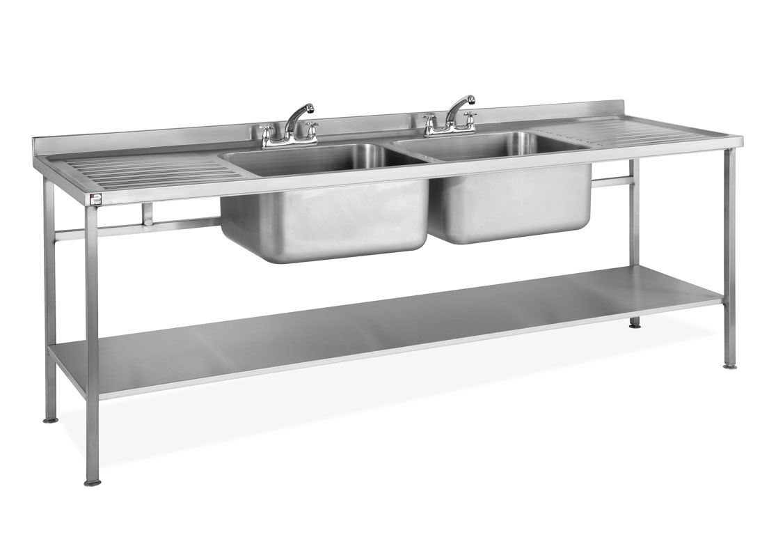 Perfect ... Stainless Steel Assembled Sink Double Bowl Double Drainer U2013 SINKDBDD.  Sale. SINKDBDD
