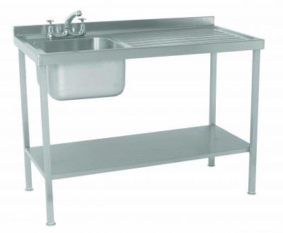 Stainless Steel Assembled Sink Single Bowl Single Drainer Right – SINKSBRHD