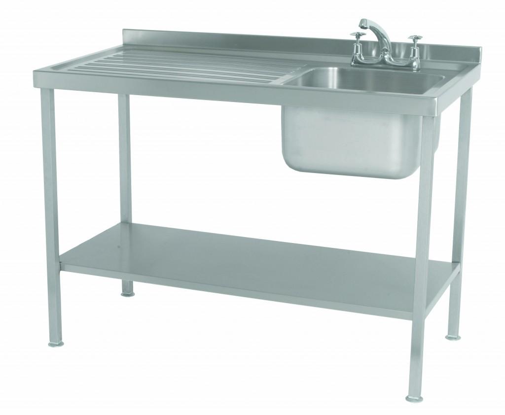 Stainless Steel Assembled Sink Single Bowl Single Drainer Left – SINKSBLHD