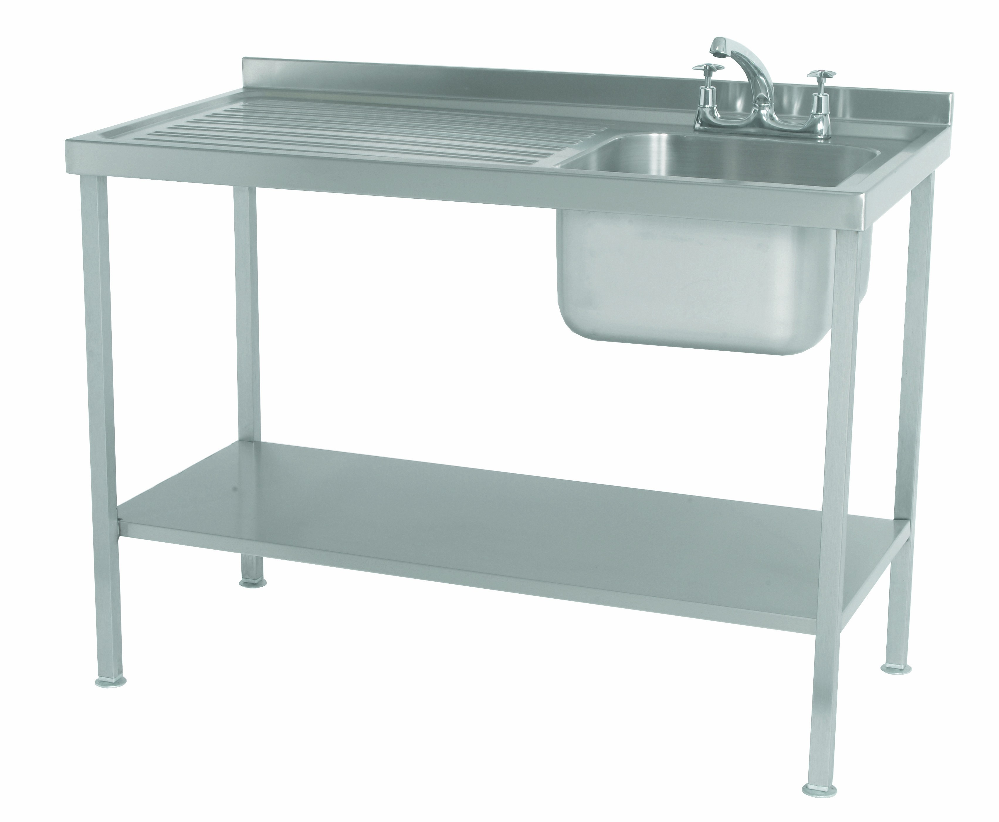 Stainless Steel Assembled Sink Single Bowl Single Drainer Left ...