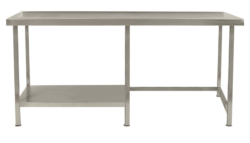 Stainless Steel Table with Half Under Shelf Left – TABHL