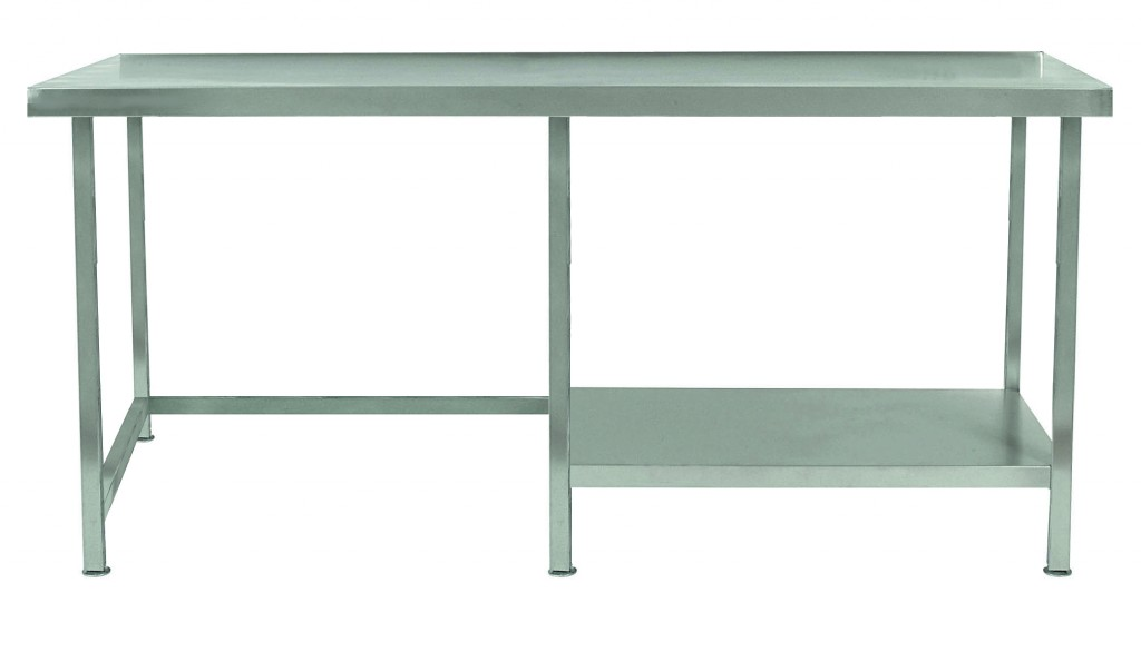 Stainless Steel Table with Half Under Shelf Right – TABHR