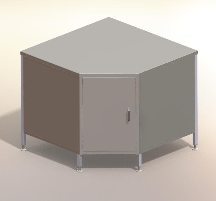 Stainless Steel Corner Unit – CUPBD600