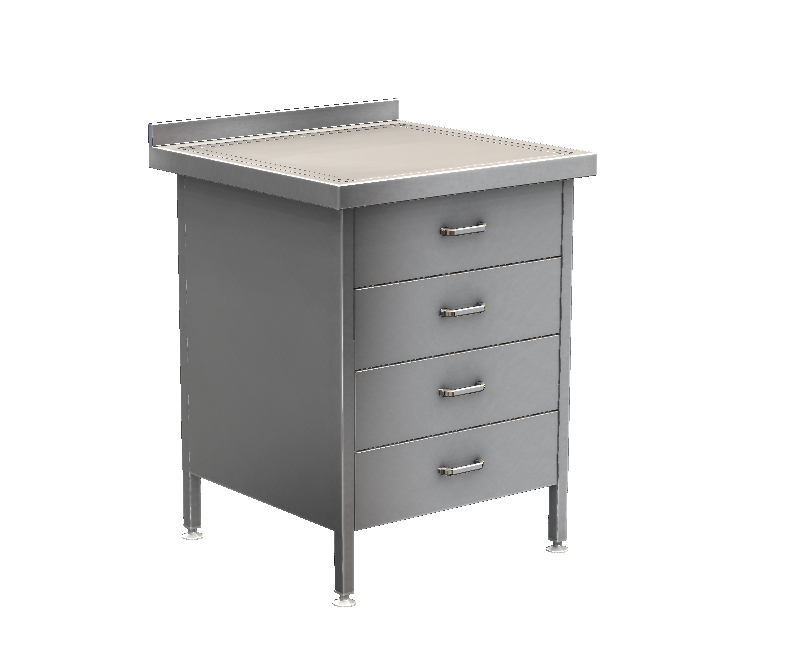 Stainless Steel 4 Drawer Unit – DRAWER4