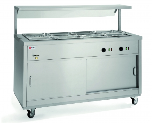 ELECTRIC HOT CUPBOARDS WITH FULL & HALF BAIN MARIE TOPS